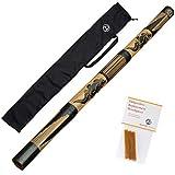 Australian Treasures - DIDGERIDOO CARVED: bambu didgeridoo incluyendo 3...