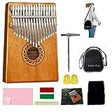 Kalimba - Piano para pulgar de 17 teclas, de caoba de alta calidad con kit...