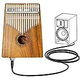 Kalimba 17 Clave Thumb Piano Instrumento con Herramienta de Ajuste y Bolsa...