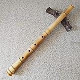 Flauta de bambú japonés Shakuhachi en D de alta calidad – Bolsa e...